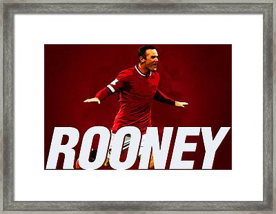 Wayne Rooney Framed Print by Semih Yurdabak