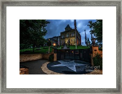 Framed Print featuring the photograph Webster County Courthouse by Thomas R Fletcher