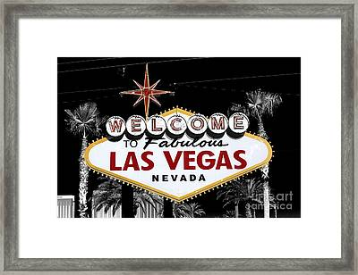 Welcome To Las Vegas Fusion Framed Print by John Rizzuto