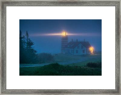 West Quoddy Lighthouse  Framed Print by Trace Kittrell