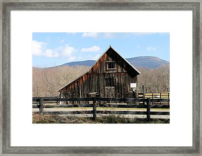 West Virginia Barn Framed Print