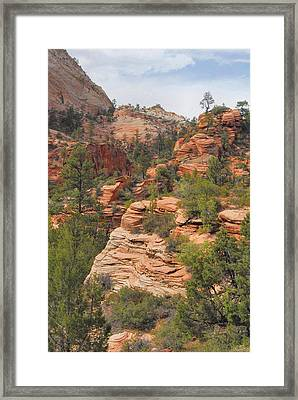 West Zion Landscape Framed Print by Stephen  Vecchiotti