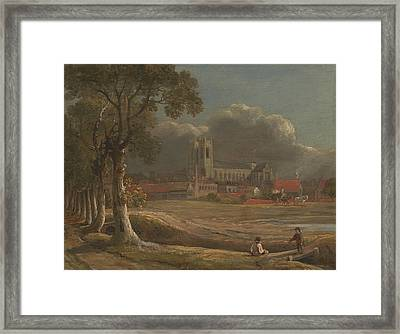 Westminster Abbey From Tothill Fields Framed Print