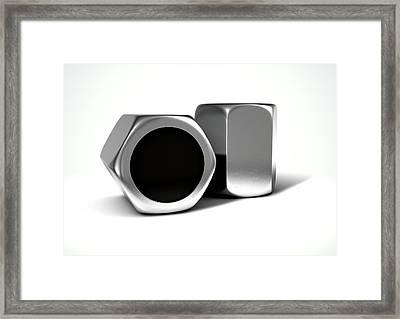 Wheel Nuts Framed Print by Allan Swart