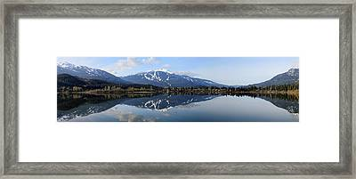 Whistler Blackcomb Green Lake Reflection Framed Print
