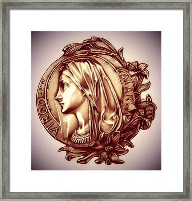 White Lilly Of The Virgin Mary Framed Print by Fred Larucci
