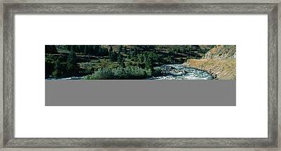 White Water On Payette River In Nez Framed Print by Panoramic Images