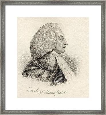 William Murray 1st Earl Of Mansfield Framed Print by Vintage Design Pics