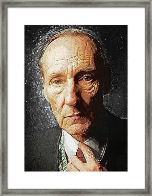 William S. Burroughs Framed Print by Taylan Apukovska