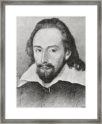 William Shakespeare, 1564 - 1616 Framed Print by Vintage Design Pics
