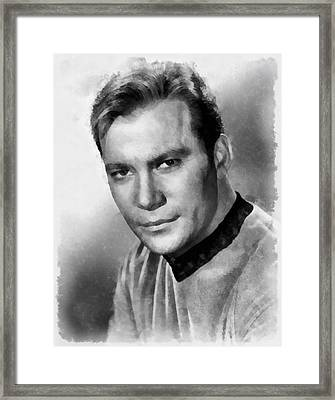 William Shatner By John Springfield Framed Print by John Springfield