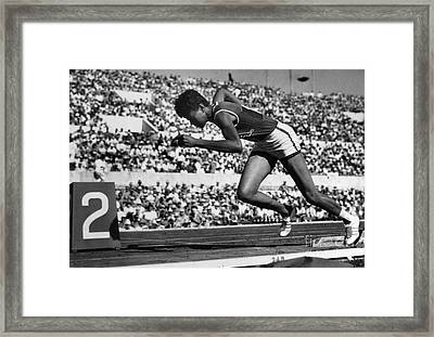 Wilma Rudolph (1940-1994) Framed Print by Granger