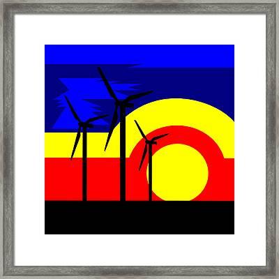 Wind And Sun Framed Print by Asbjorn Lonvig
