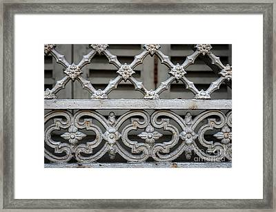 Framed Print featuring the photograph Window Grill In Toulouse by Elena Elisseeva