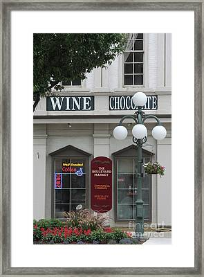 Wine And Chocolate Framed Print