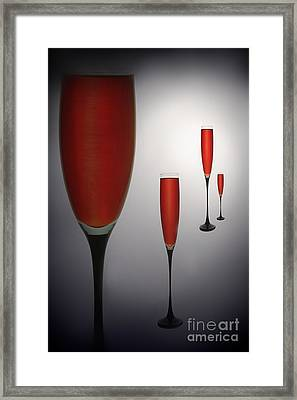 Wine Glasses With Red Wine Framed Print by   larisa Fedotova