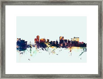 Winnipeg Canada Skyline Framed Print