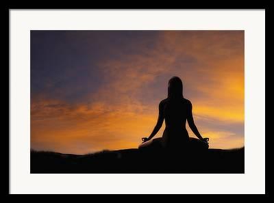 Yoga Positions Framed Prints