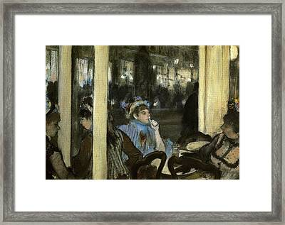 Women On A Cafe Terrace Framed Print by MotionAge Designs