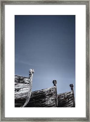 Wooden Boats Framed Print by Joana Kruse