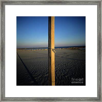 Wooden Post Framed Print