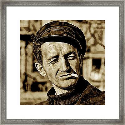 Woody Guthrie Collection Framed Print