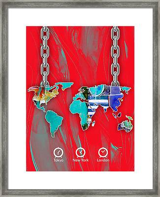 World Map Collection Framed Print