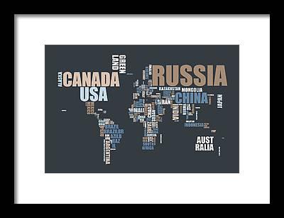 Word Map Framed Prints