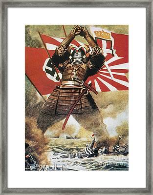 World War II: Poster Framed Print by Granger