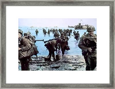 World War II, The Battle Of Normandy Framed Print by Everett