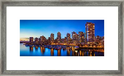 Yaletown From Cambie Bridge Framed Print
