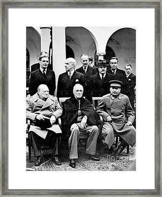 Yalta Conference, 1945 Framed Print by Granger