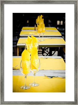 Framed Print featuring the photograph Yellow by Jason Smith