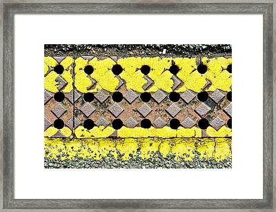 Yellow Lines Framed Print