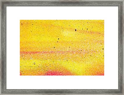 Yellow Paint Framed Print by Tom Gowanlock
