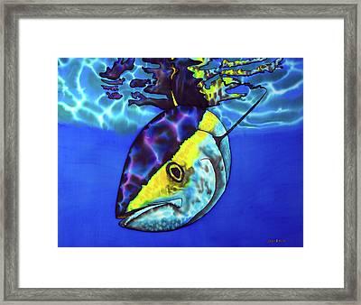 Yellowfin Tuna Framed Print by Daniel Jean-Baptiste