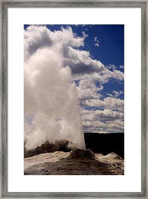Yellowstone Geyser Framed Print by Patrick  Flynn