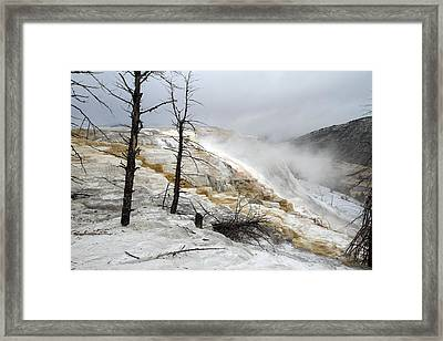 Yellowstone Mammoth Hot Springs Framed Print by Pierre Leclerc Photography
