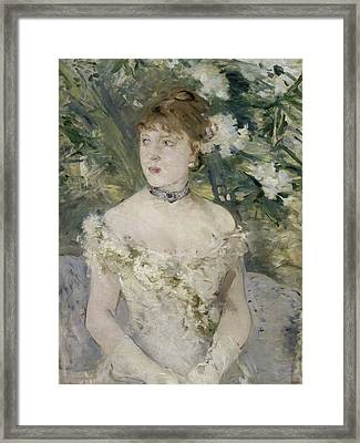 Young Girl In A Ball Gown Framed Print by Berthe Morisot
