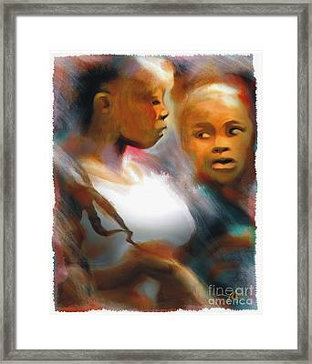 2 Young Haitian Ladies Framed Print by Bob Salo