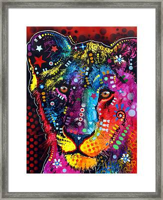 Young Lion Framed Print by Dean Russo