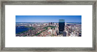 Aerial View Of Buildings In A City Framed Print