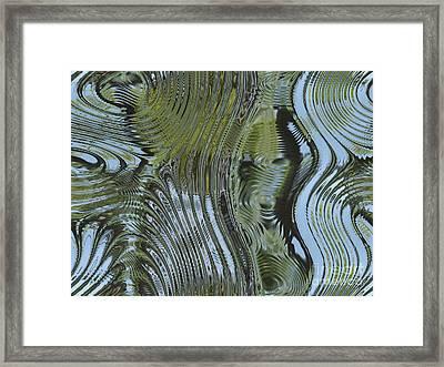 Alien Fluid Metal Framed Print by Miroslav Nemecek