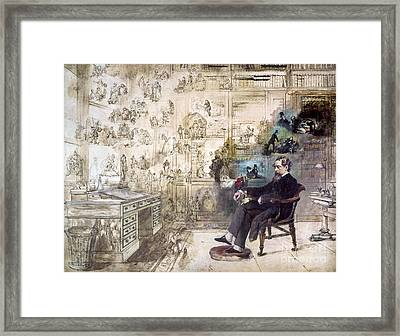Charles Dickens 1812-1870.  To License For Professional Use Visit Granger.com Framed Print