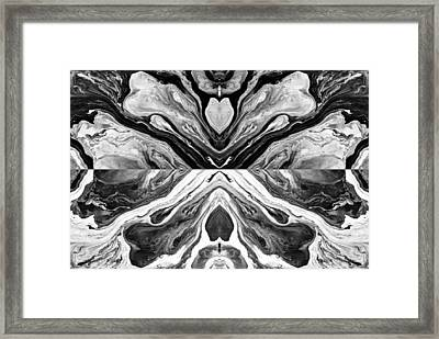 Fluid Acrylic Paint Framed Print by Sumit Mehndiratta