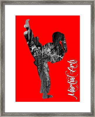 Martial Arts Collection Framed Print by Marvin Blaine