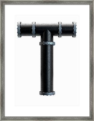 Pvc Pipe Letter Concept Framed Print by Allan Swart