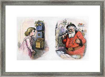 Thomas Nast: Santa Claus Framed Print by Granger