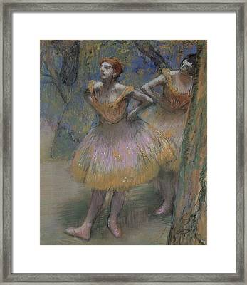 Two Dancers Framed Print by Edgar Degas