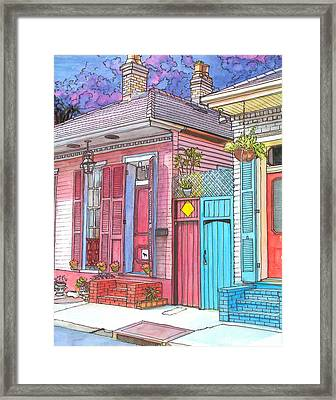 20  Violet Clouds In A French Quarter Sky Framed Print by John Boles